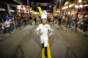 The Michigan Marching Band performs during the 2018 Outback Bowl New Year's Eve Parade at Ybor City in Tampa, on Sunday, December 31, 2017. (Mike Mulholland | MLive.com)